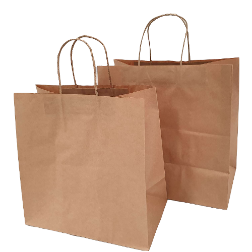 Buy 50 PK - B2 Brown Kraft Paper Bags 340x90x480mm