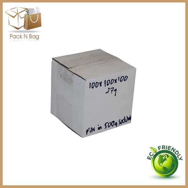 200 - 100x100x100mm Eco Friendly White Shipping Mailing  Moving RSC Cardboard Boxes Melbourne