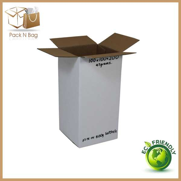 100  - 100x100x200 High Quality Eco Friendly White RSC Mailing Shipping Moving Cardboard Boxes in  Melbourne