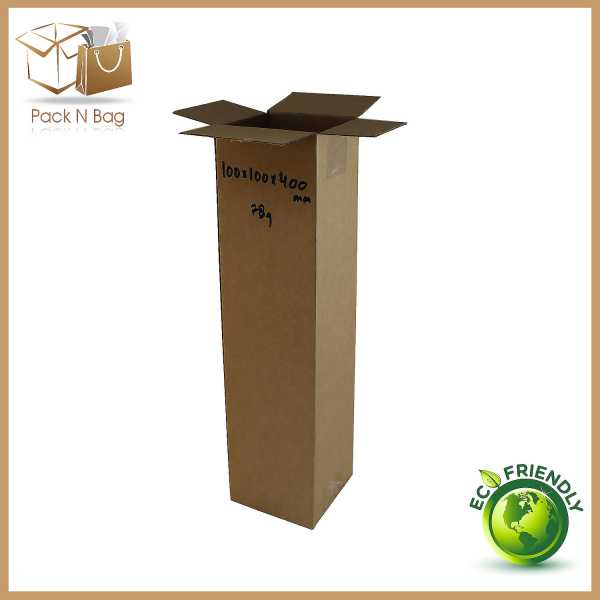 100 - 100x100x400mm High Quality Eco Friendly  Brown Tower Cartons  RSC Cardboard Boxes in Melbourne