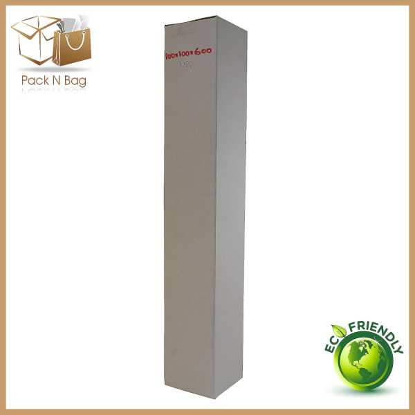 100 - 100x100x600mm Best Quality Professional Packaging White Tower RSC boxes in Melbourne
