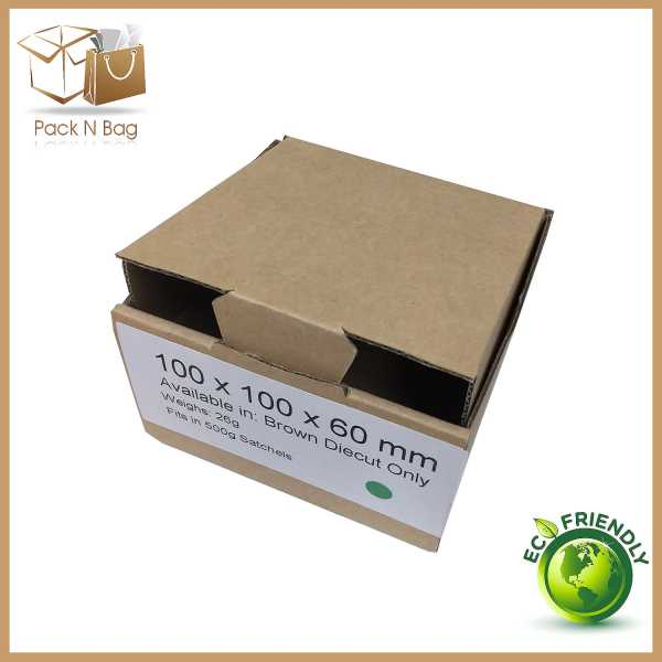 100 - 100x100x60mm -High Quality Brown Eco Friendly Mailing Shipping  Diecut Cardboard Boxes Melbourne