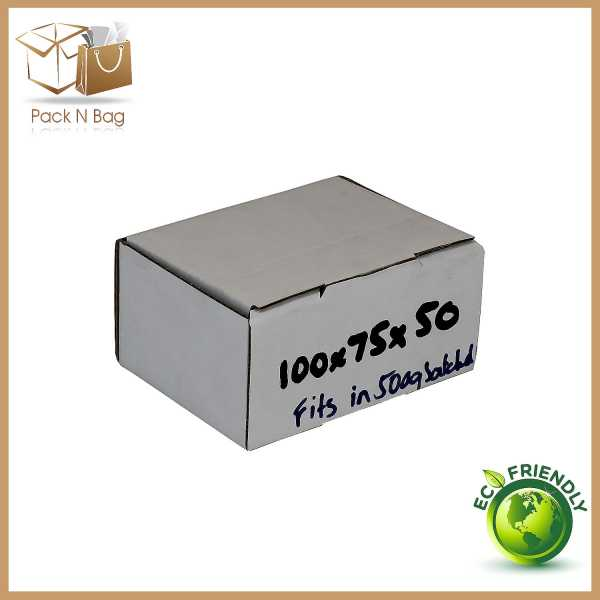 100 - 100x75x50mm White Cardboard Mailing Shipping Eco Friendly Quality Boxes In Melbourne