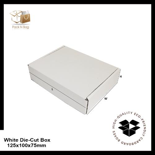 Buy Excellent - White Die-Cut Boxes 100PK-125x100x75mm - In Melbourne