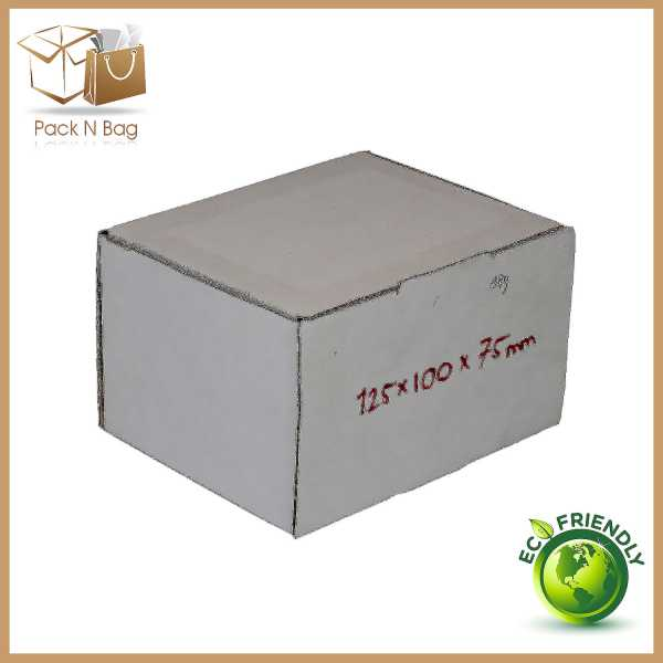 100 - 125x100x75mm Professional Packaging Eco Friendly White Cardboard Mailing Shipping Boxes In Melbourne
