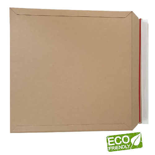100-PK Eco Friendly High Quality A5+ Size 270x210 400gsm Brown Kraft Rigid Mailers