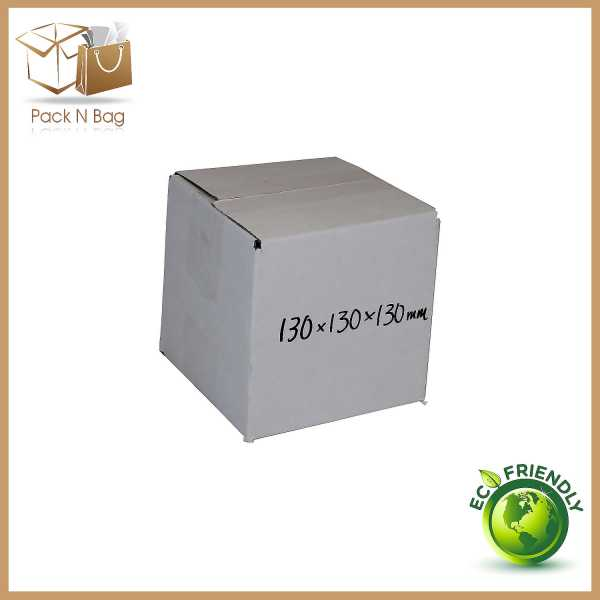100 130x130x130mm High Quality White RSC Cardboard Mailing Shipping Moving Boxes In Melbourne