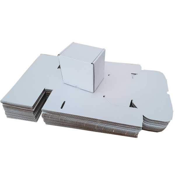 50 - 134x110x140mm White Diecut cardboard Mailing Boxes In Melbourne