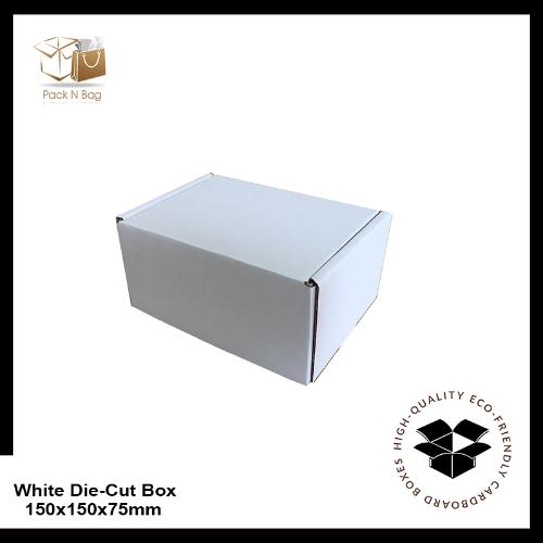 Buy Excellent - White Die-Cut Boxes 100PK-150x150x75mm - In Melbourne