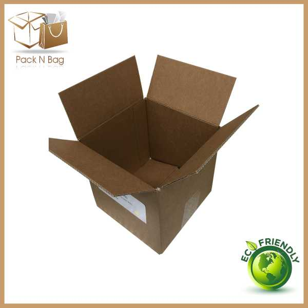 100 150x150x150mm Eco Friendly Brown Cardboard Shipping Mailing Moving Cube Boxes