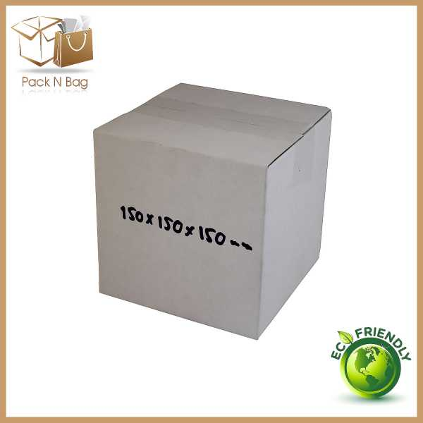 100 150x150x150mm Eco Friendly Packaging Australia White Cardboard Shipping Mailing Moving Cube Boxes