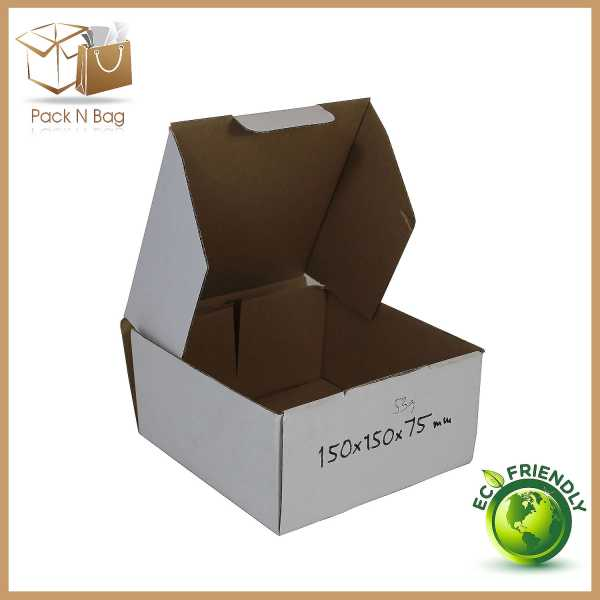 100 150x150x75mm High Quality packaging Supplies Packing goods  White Cardboard Diecut Boxes In Australia