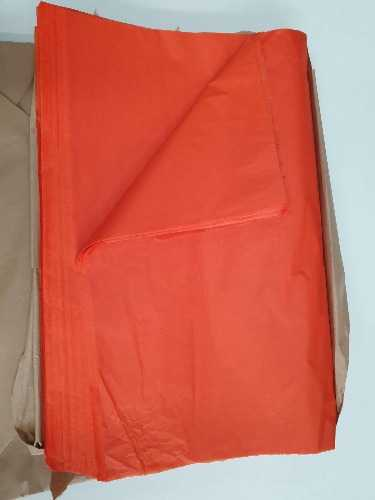 High Quality Ream of Orange tissue paper 480 sheets  500x750mm In Melbourne