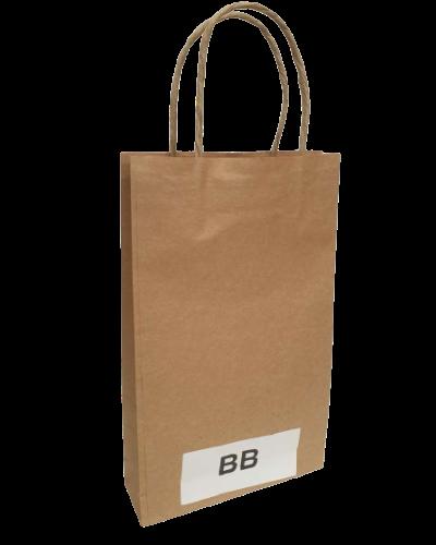 Buy 100 PK - BB - High Quality Brown Kraft Paper Bags 160x50x265mm