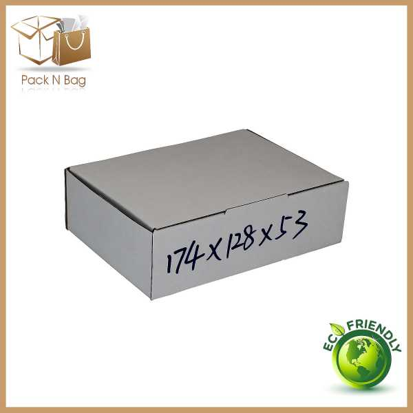 100 174x128x53mm White High Quality Mailing Shipping DieCut Boxes In Australia Packqueen