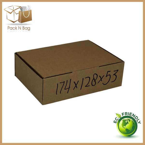 100 174x128x53mm Brown High Quality Mailing Shipping DieCut Boxes In Melbourne Australia Packqueen