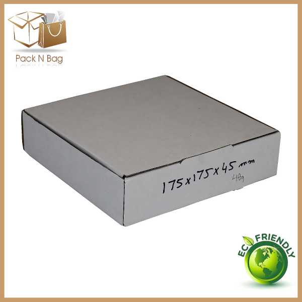 Packnbag 100 - 175x175x45mm High Quality White Cardboard Mailing Shipping Moving Boxes in Signet Melbourne Australia
