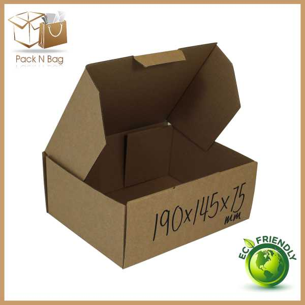 Packnbag 100 -190x145x75mm High Quality Eco friendly Packaging Shipping Mailing Boxes Melbourne Australia