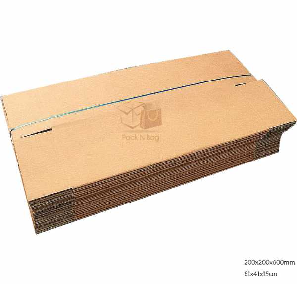 Packnbag 25 200x200x600mm  High Quality Brown Packaging Rsc Shipping Cardboard Boxes in Melbourne Australia