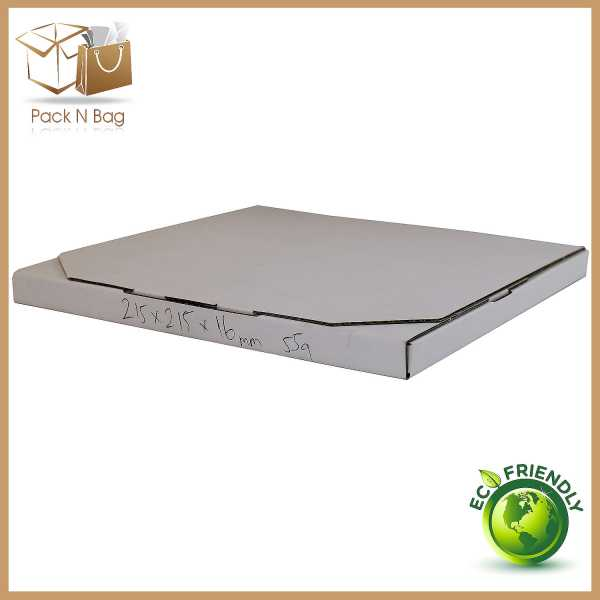 100 215x215x16mm High Quality Rigid Mailer Large Letter White Diecut Cardboard Mailing Boxes In Melbourne Australia