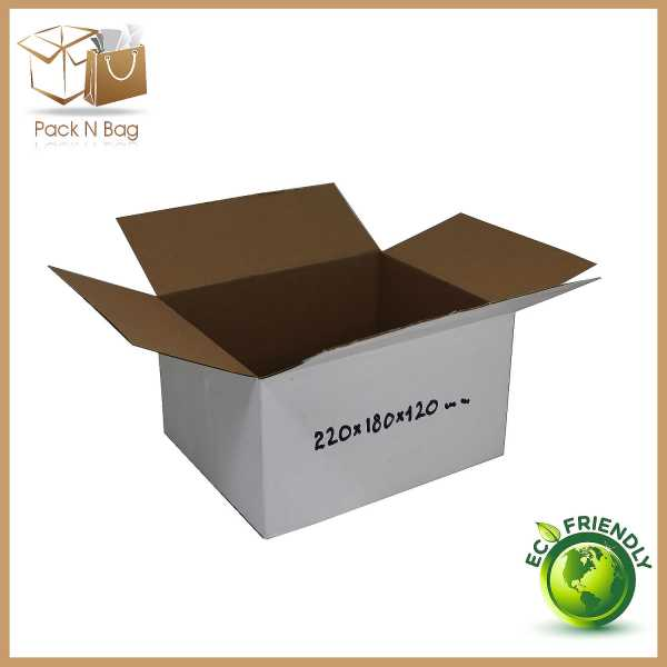 100 - 220x180x120mm High Quality Eco Friendly White RSC Mailing Shipping Boxes In Melbourne