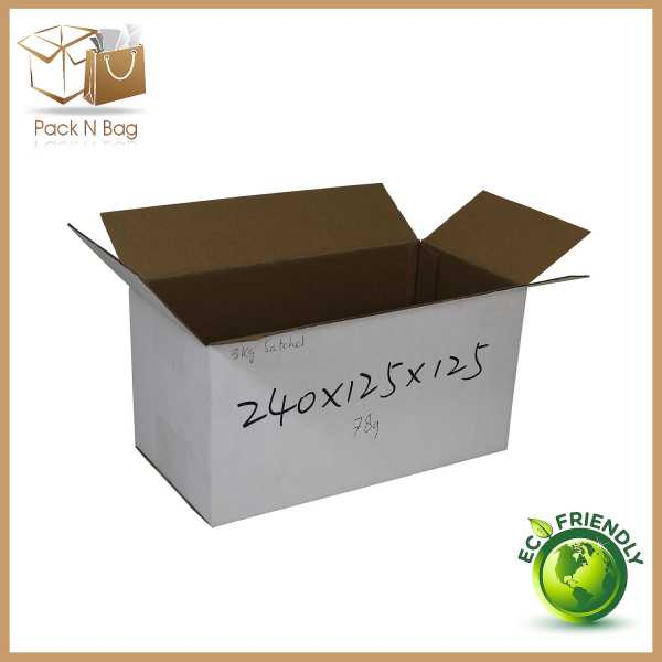 100 - 240x125x125mm  Best Quality White Cardboard RSC Moving Shipping Boxes In Melbourne