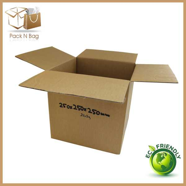 50 - 250x250x250mm High Quality RSC Cardboard Brown Cube Boxes In Australia