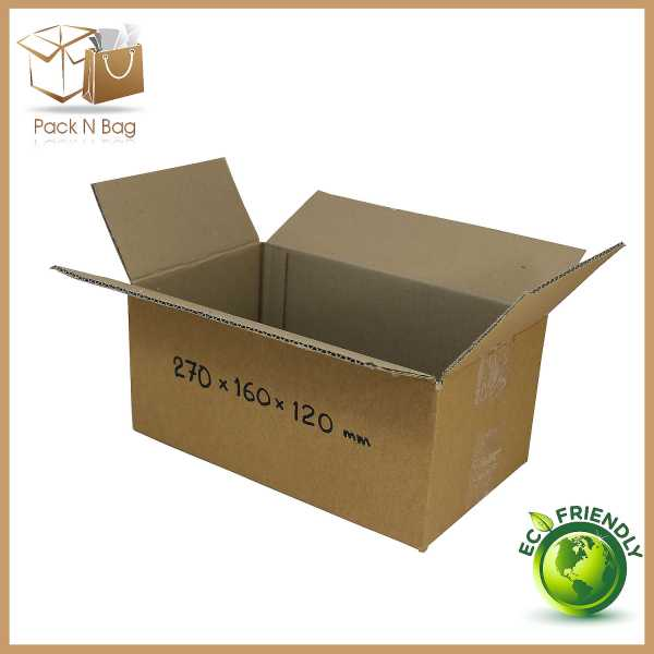 50 - 270x160x120mm High Quality RSC Brown Cardboard Boxes in  Melbourne