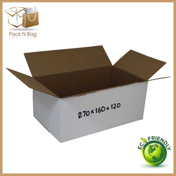 50 - 270x160x120mm Professional Packaging RSC White Cardboard Boxes In Melbourne