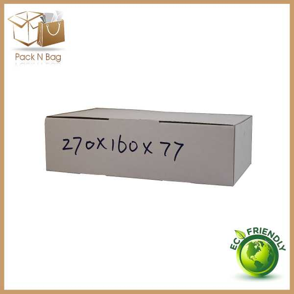 100 - 270x160x77mm Professional Packaging Diecut White Cardboard  Mailing Shipping Boxes In Melbourne