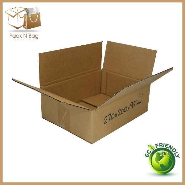 50 - 270x200x95mm Industrial Packaging Cardboard Brown RSC Shipping Mailing Boxes In Melbourne