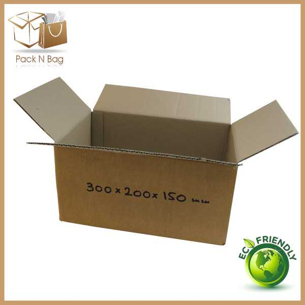 50 - 300x200x150mm Packaging Industries Brown Cardboard RSC Mailing Boxes In Australia