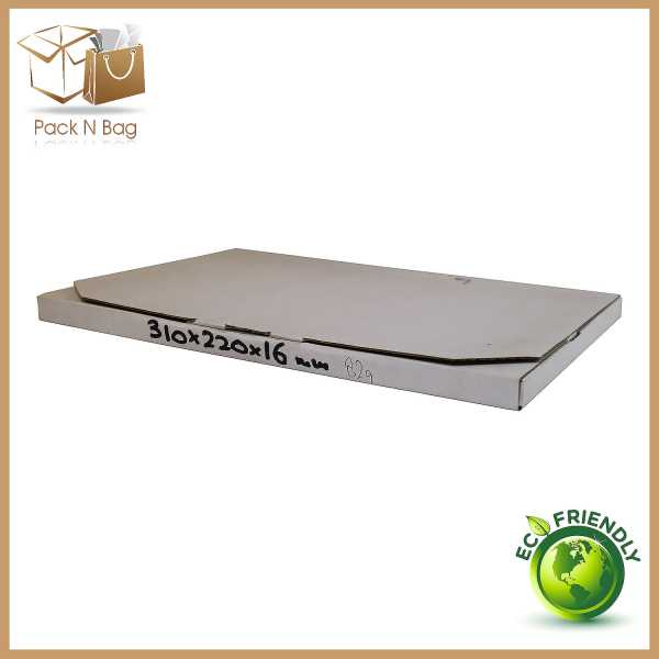 100 - 310x220x16mm High Quality White Cardboard Diecut Mailing Boxes In Australia