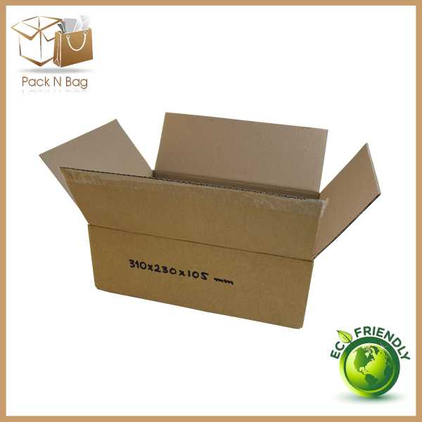 25 - 310x230x105mm High Quality Cardboard Brown Shipping Moving RSC Boxes In Melbourne