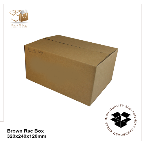 Buy Excellent - Brown RSC Boxes 50-320x240x120mm - In Melbourne