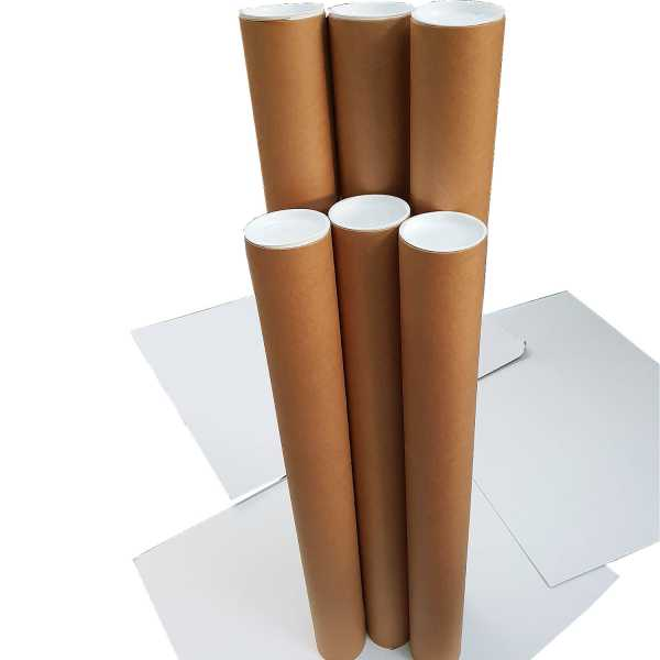 1- High Quality Brown Kraft Cardboard  Mailing Tubes 1040x90x1.8mm Shipping in Melbourne