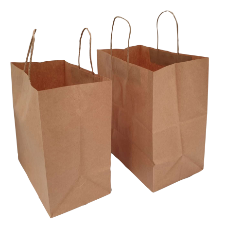 Buy 500 PK - Brown Kraft Paper Bags 160x50x265mm