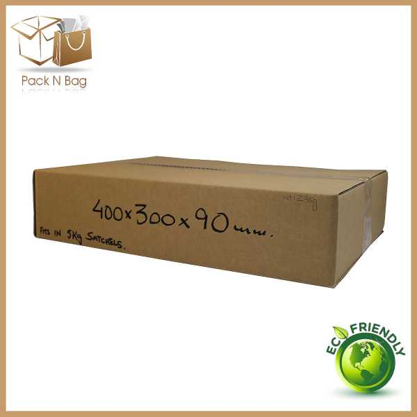 50x - 400x300x90mm  High Quality  Brown RSC Cardboard mailing Shipping Boxes