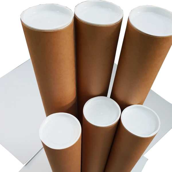 1- High Quality Brown Kraft cardboard Mailing Tubes 850x90x1.8mm Shipping in melbourne