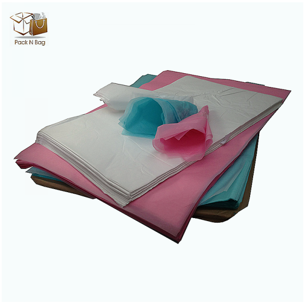 Ream of pink tissue paper