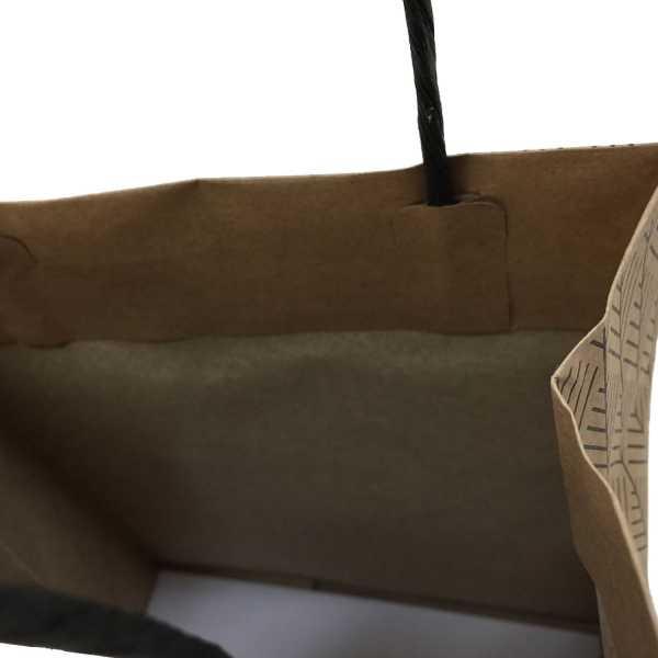 BLACK HERRINGBONE PAPER BAGS JUNIOR IN MELBOURNE