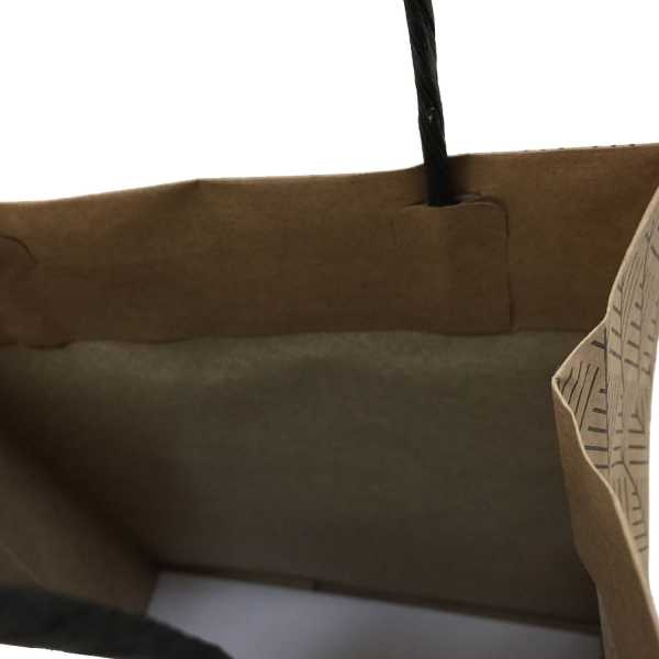 BLACK HERRINGBONE PAPER BAGS JUNIOR IN MELBOURNE