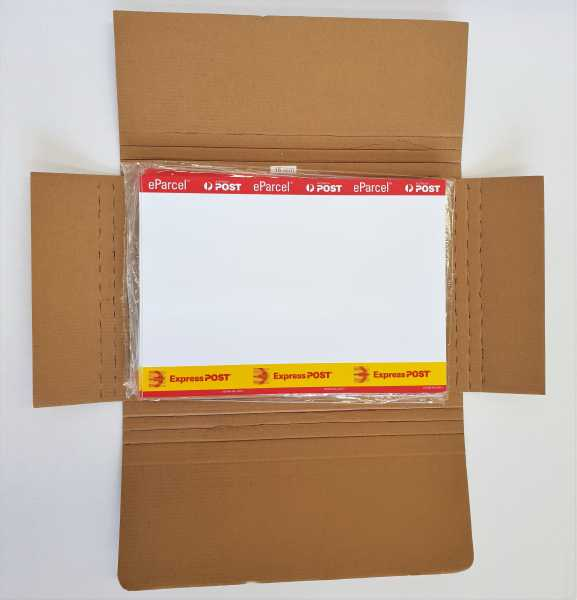 100 x A4 Artwork /Document / Book Mailers - Medium 290x215x15mm  Multi crease Brown Kraft
