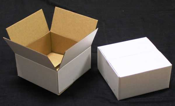 100 - 150x150x75mm Best Quality White RSC Shipping  Mailing Moving Boxes in Australia