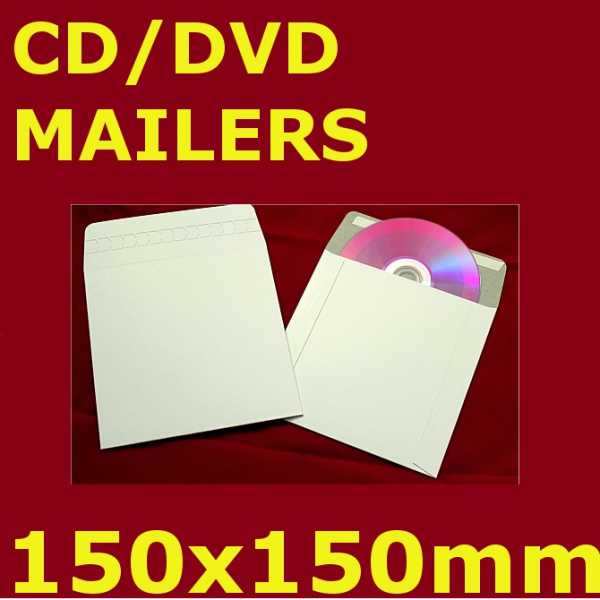 400gsm 150x150mm Rigid Mailer (400 Units)