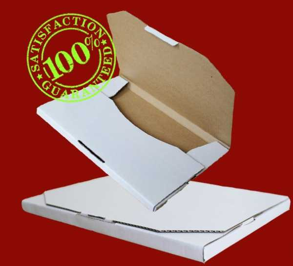 100 - 220x160x16mm High Quality Professional White Diecut Mailing Shipping Boxes In Melbourne