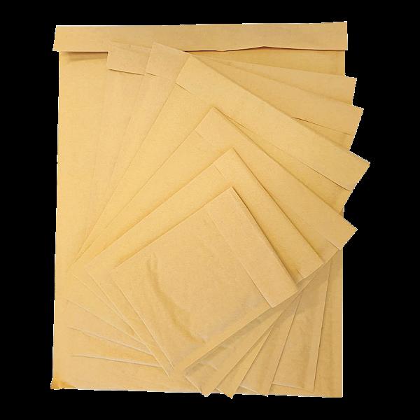 #6B 100 x 300x400mm outer & 320x400mm inner Kraft brown Padded envelopes