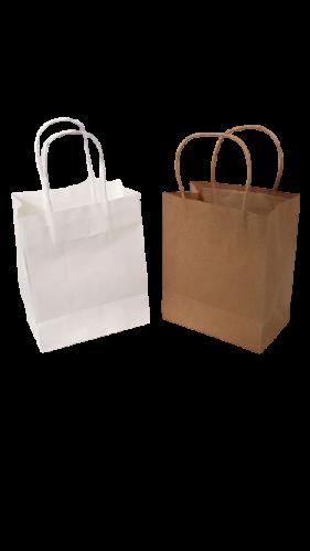 Buy 100 PK - White Kraft Paper Bags W1 260x90x350mm