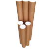 1x High Quality Mailing Tubes 660x60x1.8mm Brown with White Caps Shipping In Melbourne